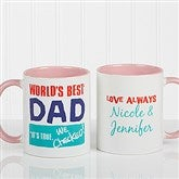 Thanks Dad, I Turned Out Awesome Personalized Coffee Mug 11oz.- Pink - 15653-P