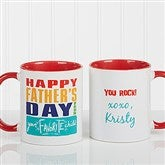 Thanks Dad, I Turned Out Awesome Personalized Coffee Mug 11oz.- Red - 15653-R
