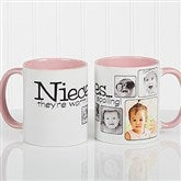 They're Worth Spoiling Personalized Coffee Mug 11oz.- Pink - 15654-P