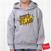 Super Hero Personalized Youth Hooded Sweatshirt - 15656-YHS
