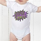 Super Hero Personalized Baby Bodysuit - 15656-CBB