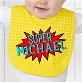 Super Hero Personalized Baby Bib - 15656-B