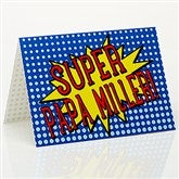Super Hero Personalized Greeting Card - 15659