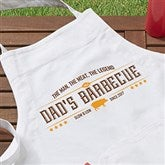 The Man,The Meat,The Legend Personalized Apron - 15666