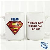 DC Comics® Superman Logo Personalized Coffee Mug- 15 oz. - 15667-L