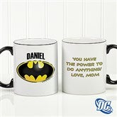 DC Comics® Batman Logo Personalized Black Handle Mug- 11oz. - 15668