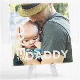 Loving Him Personalized Tabletop Canvas Print- 8