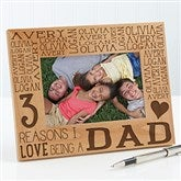 Reasons Why For Him Personalized Picture Frame- 4 x 6 - 15675-S