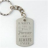 Love Quotes Personalized Dog Tag Keychain - 15681