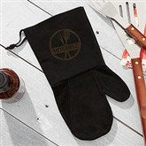 BBQ Brand Personalized Suede Grill Mitt - 15683