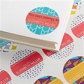 Geometric Personalized Book Stickers - 15702