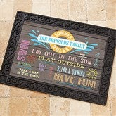 Summer Rules Personalized Doormat- 18x27 - 15735