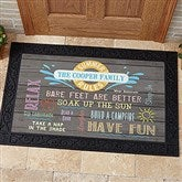 Summer Rules Personalized Doormat- 20x35 - 15735-M