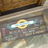 Summer Rules Personalized Oversized Doormat- 24x48 - 15735-O