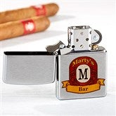 Vintage Bar Zippo® Personalized Windproof Lighter - 15766