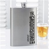 I Do Crew Personalized Groomsman Flask - 15768