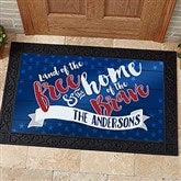 Land Of The Free Personalized Doormat- 20x35 - 15773-M