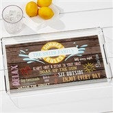Summer Rules Personalized Acrylic Serving Tray - 15775