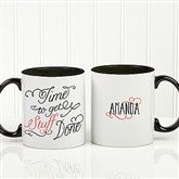 Daily Cup of Inspiration Personalized Coffee Mug 11oz.- Black - 15783-B