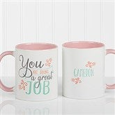 Daily Cup of Inspiration Personalized Coffee Mug 11 oz.- Pink - 15783-P