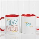 Daily Cup of Inspiration Personalized Coffee Mug 11 oz.- Red - 15783-R