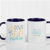 Daily Cup of Inspiration Personalized Coffee Mug 11 oz.- Blue - 15783-BL