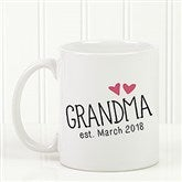 Grandparent Established Personalized Coffee Mug 11 oz.- White - 15784-S