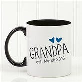 Grandparent Established Personalized Coffee Mug 11oz.- Black - 15784-B