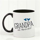 Grandparent Established Personalized Coffee Mug 11oz.- Black - 15784-B