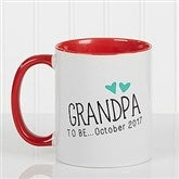 Grandparent Established Personalized Coffee Mug 11oz.- Red - 15784-R