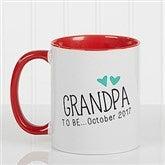 Grandparent Established Personalized Coffee Mug 11oz.- Red - 15784-R