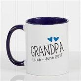 Grandparent Established Personalized Coffee Mug 11oz.- Blue - 15784-BL