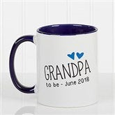 Grandparent Established Personalized Coffee Mug 11oz.- Blue - 15784-BL