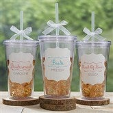 Bridesmaid On The Go Personalized Acrylic Insulated Tumbler - 15785