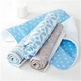 Trendy Baby Boy Burp Cloth Set - 15790