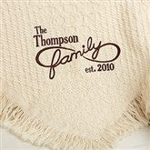 Family Is Forever Personalized Afghan - 15802