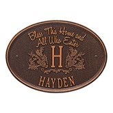 Bless Our Home Personalized Aluminum Plaque - Antique Copper - 15808D-AC