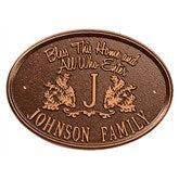 Bless Our Home Personalized Aluminum Plaque - Antique Copper - 15808D-AC
