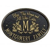 Bless Our Home Personalized Aluminum Plaque - Black/Gold - 15808D-BG