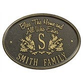 Bless Our Home Personalized Aluminum Plaque - Bronze/Gold - 15808D-OG