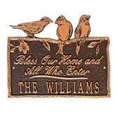 Birds on a Branch Personalized Aluminum Plaque - Antique Copper - 15809D-AC