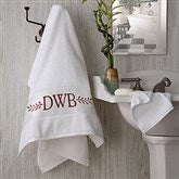 Meadow Monogram Personalized Bath Towel - 15812-1