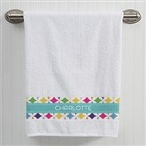 Geometric Personalized Bath Towel - 15813