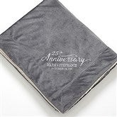 Everlasting Love Embroidered Sherpa Blanket- Grey - 15814-G