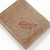 Everlasting Love Embroidered Sherpa Blanket- Tan - 15814-T