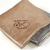 Warmhearted Wedding Embroidered 60x72 Sherpa Blanket - 15815-L