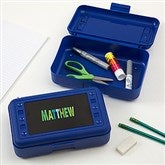 All Mine! Personalized Blue Pencil Box - 15816-B