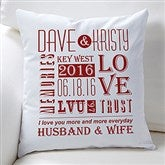 Our Life Together Personalized Throw Pillow - 15829