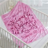 I Loved You...Personalized Keepsake Blanket - 15830