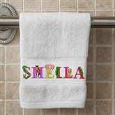 Alphabet Animals Personalized Hand Towel - 15836